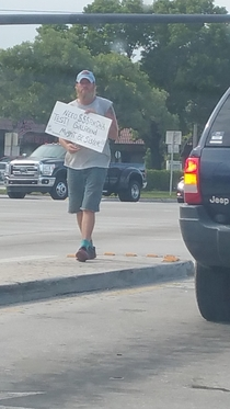 Pic #1 - Saw a guy asking for money on the street