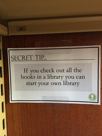 Pic #1 - Secret Library Tip