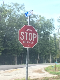Pic #1 - Somebody defaced this stop sign in my town