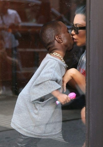 Pic #1 - Someone photoshopped Kanye Wests head onto his daughters body