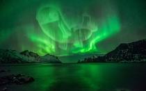 Pic #1 - The Aurora Borealis over Iceland last night was truly amazing