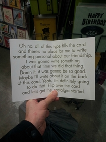 Pic #1 - The perfect birthday card For when you dont know what to write