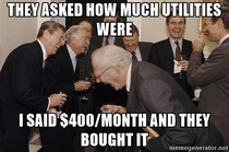 Pic #1 - They asked how much utilities were