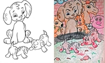 Pic #1 - This is what happens when a psychopath gets access to coloring pages