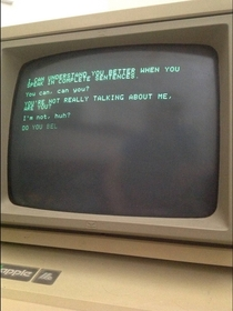Pic #1 - This is what happens when Siri has a conversation with a more primitive AI program running on a -year-old Apple II