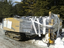 Pic #1 - This is what happens when you park your construction equipment on private property without permission