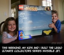 Pic #1 - This weekend my kids and I built the Lego Invisible Jet  x-post from rLego
