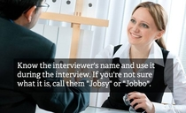 Pic #1 - Top Interview Tips