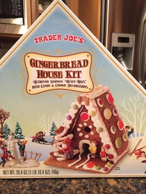 Pic #1 - Trader Joes gingerbread house kit
