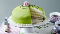 Pic #1 - Twins and I made a Princess cake as seen on The Great British Bake Off Theirs vs oursOC