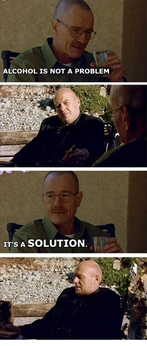 Pic #1 - What if Walter White told stupid chemistry jokes instead of cooking meth