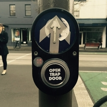 Pic #1 - Workmate put these stickers on crossing buttons around Melbourne
