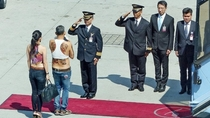 Pic #1 - -year-old Prince of Thailand arrived in Munich in Topeka sandals and with a white poodle