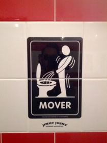 Pic #10 - Jimmy Johns asks which type of restroom user you are