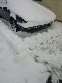 Pic #10 - My roommate left on a cruise for a week right before all these snowstorms I decided to play a little prank on him