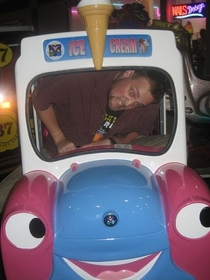 Pic #10 - Over the past few years I have been cramming myself into small childrens rides at the mall