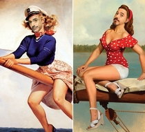 Pic #10 - Robert Downey Jr Portrayed as Pinup Girls