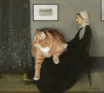 Pic #10 - Russian Artist Inserts Her Fat Cat Into Iconic Painting