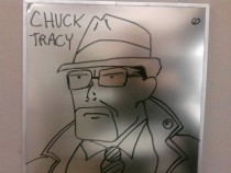 Pic #13 - Every week I draw a new version of my co-worker on his dry erase board He is a quiet  year old man and doesnt really know how to feel about this