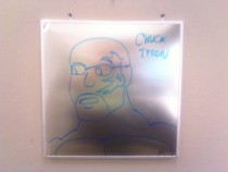 Pic #14 - Every week I draw a new version of my co-worker on his dry erase board He is a quiet  year old man and doesnt really know how to feel about this