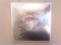 Pic #16 - Every week I draw a new version of my co-worker on his dry erase board He is a quiet  year old man and doesnt really know how to feel about this
