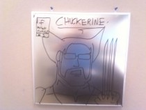 Pic #19 - Every week I draw a new version of my co-worker on his dry erase board He is a quiet  year old man and doesnt really know how to feel about this