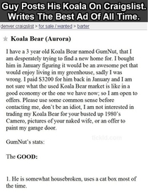 Pic #2 - Best Craigslist ad of all time