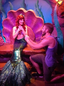 Pic #2 - Guy proposes to various Disney characters at Disney World