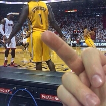 Pic #2 - Guy takes picture of himself flicking off Lance Stephenson ends up on TV