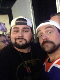 Pic #2 - I am pretty sure some unknown force is following Kevin Smith and giving him surprise Butt Sex during photo shoots