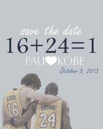 Pic #2 - I noticed that a lot of photos of Kobe Bryant and Pau Gasol look like engagement photos so I made these