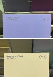 Pic #2 - I renamed some of the paint colors at the hardware store