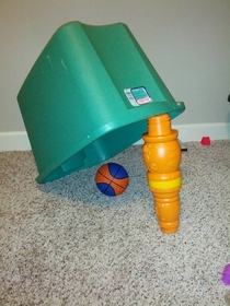 Pic #2 - I set a trap for my son using his favorite ball