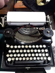 Pic #2 - I was going to purchase this typewriter at the antiques market until I noticed it was not up to date