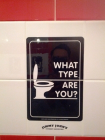 Pic #2 - Jimmy Johns asks which type of restroom user you are