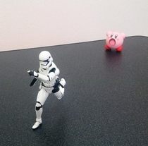 Pic #2 - Kirby swallows a Stormtrooper