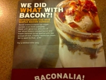 Pic #2 - Maple Bacon Sundae at Dennys