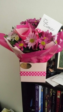 Pic #2 - My friend received some flowers from her ex the other day