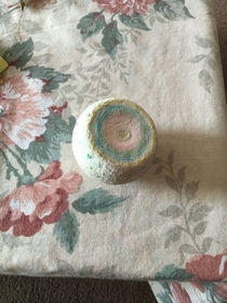 Pic #2 - My grandma has had this decorative rock on her table for  years I dont have the heart to tell her