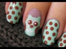 Pic #2 - My hilarious attempt at YouTuber cutepolishs owl nails