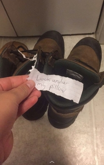 Pic #2 - My husband always leaves me notes when he has to leave town for work