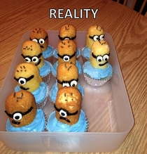 Pic #2 - My Mom gave the Despicable Me Minion cupcakes a shot