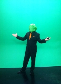 Pic #2 - Our weather guy went headless for Halloween