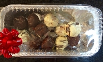 Pic #2 - Peanut Butter MampM Truffles - before and after I drove off with them on the roof of my car