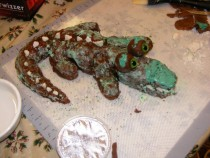 Pic #2 - ProjectExpectation of the night  Alligator cake Reality  Turdagator cakepoor turdagatorim sorry ive failed you
