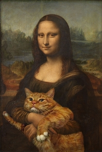 Pic #2 - Russian Artist Inserts Her Fat Cat Into Iconic Painting