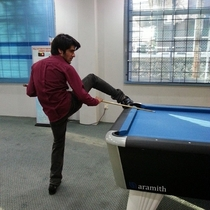 Pic #2 - So my friend made an awkward pose while playing pool
