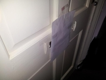 Pic #2 - Some kids have been peering through my letterbox recently It was creeping me out I decided to up the creepy ante