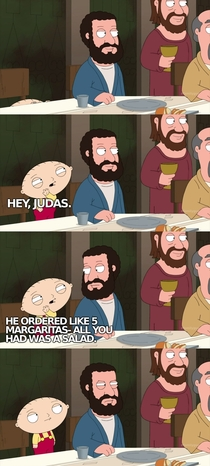 Pic #2 - Stewie visits the last supper