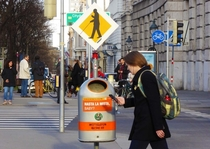 Pic #2 - Street signs warning of technically blind pedestrians